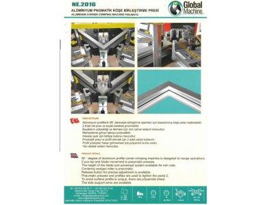 Alüminyum Pnomatik Ve Hidrolik Köşe Birleştirme Presi