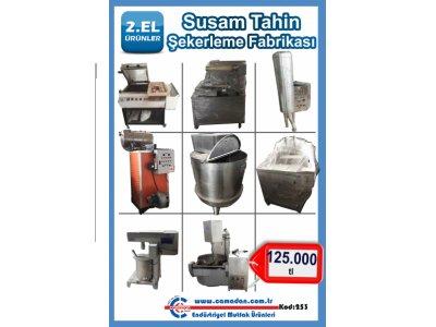 Satılık 2. El Satılık Susam Tahin Şekerleme Fabrikası Makineleri Fiyatları İstanbul Lokma, Susam, Tahin, Şekerleme, Kaynatma Kazanı, Ambalaj Makineleri, Test Cihazları, Tank, Çöğen Mikseri