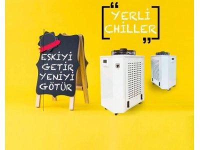Satılık Sıfır Co2 180 Watt Çift Kafa Su Soğutucu Chiller Fiyatları Bursa chiller 180 watt chiller lazer kesim makinesi chiller  co2 chiller
