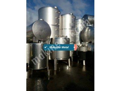 Paslanmaz Krom Çelik Tanklar Yag Süt Glikoz Tahin Şarap Gıda Tankları