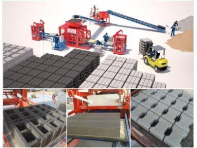 Satılık Sıfır Beton Blok Makinesi, Parke Blok Makinesi, Interlock Briket Makinası Fiyatları  brick making machine, hollow block machine, paving block machine, concrete block machine