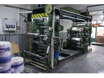 Satılık İkinci El 4 Renkli Flekso Baskı Makinesi Fiyatları  flekso, flexo, printing machine, matbaa, flekso matbaa,