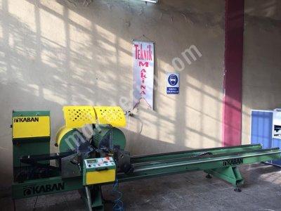 Satılık İkinci El Kaban Marka Çift Köşe Alüminyum Kesim Makinası TEKNİK MAKİNADAN Fiyatları Bursa alüminyum köşe presi alüminyum kesim makinası pvc ve alüminyum işleme makinaları