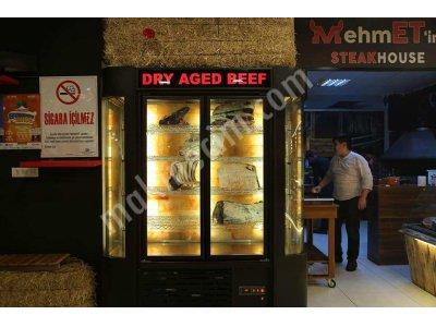 Satılık Sıfır Koryan Kaplamalı Et Dinlendirme / Dry Aging Dolabı Fiyatları İstanbul dry age dolabı,kuru dinlendirme dolap fiyatları,dik steak dolabı,et yaşlandırma dolabı,dry aged dolapları fiyat,himalaya taşlı dry age vitrin