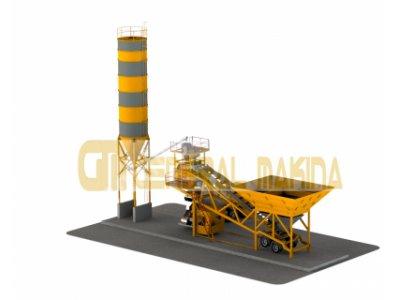 Satılık Sıfır Mobil Beton Santrali - Gnr-mbs120 General Makina Fiyatları İzmir beton santralleri,mobil beton santralleri,konkasör tesisi