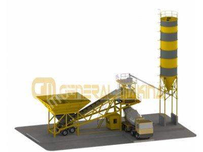 Satılık Sıfır GNR-MBS90 MOBİL BETON SANTRALİ-GENERAL MAKİNA Fiyatları  beton santralleri,mobil beton santraller,konkasör,taş kırma