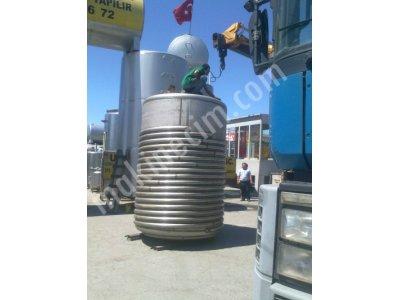 Satılık Sıfır 2 ADET PASLANMAZ ÇELİK KİMYASAL REAKTÖRLER 316 KALİTE 5 M3 Fiyatları İstanbul Melas tankı.melas.Paslanmaz reaktör, Kimyasal reaktör, krom reaktör, pilot reaktör, sahibinden reaktör, paslanmaz karıştırıcı, miker, kurutucu,ısıtmalı kazan,serpantinli kazan,çelik reaktör,