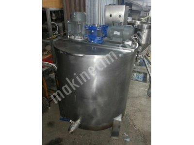 Süt Pişirme Alttan Isıtmalı Çift Motorlu 800 Lt 2.el Paslanmaz