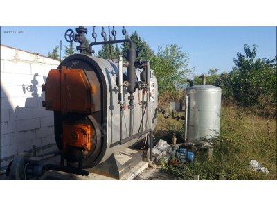 Satılık 2. El Termo Çelik Buhar Kazanı 750 Kg_h (25 M2) Katı Yakıtlı Çalışan Set Fiyatları  Kömürlü, Buhar, Kazan, termoçelik, termo