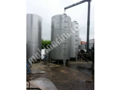 Paslanmaz 10- 15 Tonluk Depolama Tankları Sirke Elma Suyu Yag Gıda Tankları