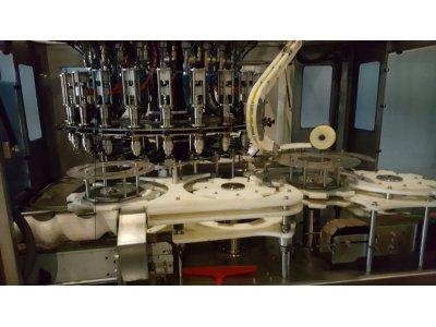 Satılık 2. El 24'lü Sıvı Dolum Makınası 24 Saate 1 Lt (200.000 Adet) Fiyatları  dolum, yağ, sıvı, Şakar, Rotary, robot, dolum makinası,
