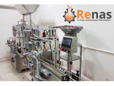 Renas Tam Otomatik Sıvı Dolum Hattı 100-1000 Ml