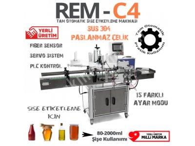 Renas Rem-C4 Tam Otomatik Şişe Etiketleme Makinası