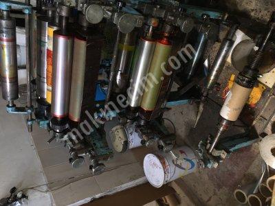 Satılık 2. El Flekso Baskı Makinası Fiyatları İstanbul baskı makinası, kağıt baskı makinası, flekso baskı makinası, ıslak mendil baskı makinası
