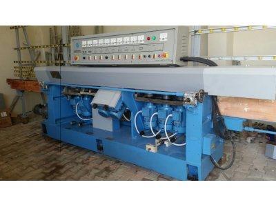 Satılık İkinci El 9 Kafalı Düz 0-45derece Açılı Cam Rodaj Makinası Fiyatları Eskişehir cam düz rodaj
