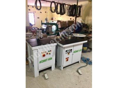 Satılık 2. El HİZMET-HİM OTOMATİK JUMBA MAKİNASI TEMİZLEMELİ BAKIMLI Fiyatları Adana eğri kenar bantlama,eğri kenar temizleme,jumba bantlama,cumba makinası
