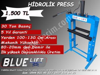 Satılık Sıfır *HİDROLİK PRESS 30TON 5YIL GARANTİLİ TAMİRCİLER İÇİN EN İDEALİ* Fiyatları İzmir PRES,PRESS MAKİNESİ