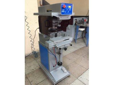 Satılık İkinci El 2 Renk Açık Hazne Tampon Baskı Makinası Fiyatları İzmir tampon baskı makinası