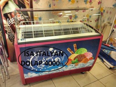 Satılık İkinci El Isa İtalyan Dondurma Dolabı Fiyatları İstanbul dondurma dolabı,dondurma,dolap,dondurma tezgahı,ice cream,tezgah,cam dolap,cam dondurma dolabı