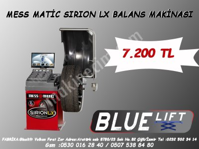 Satılık Sıfır MESS-MATIC SIRION-LX BALANS MAK. Fiyatları İzmir balans,balans makinası,rot balans,lastik