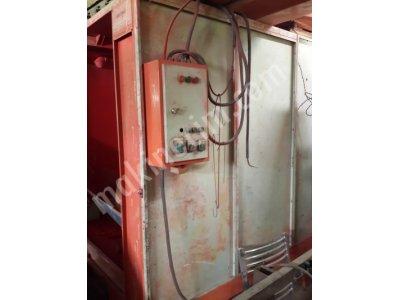 Satılık Sıfır Kutu fırın Fiyatları Bursa Toz boya elektrostatik elektro kabin fırın firin ikiz kurutma boyama pişirme yıkama sprey konveyör zincir kardan web wep