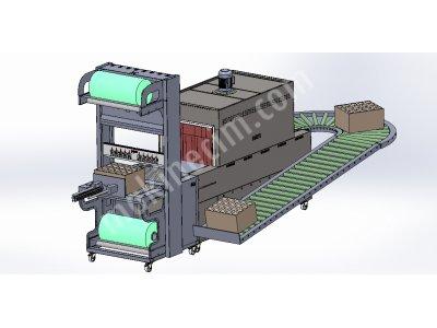 Ankara Shrink Ambalaj Paketleme Makinası -  Kule Özel Tip Dönüşlü Konveyörlü -