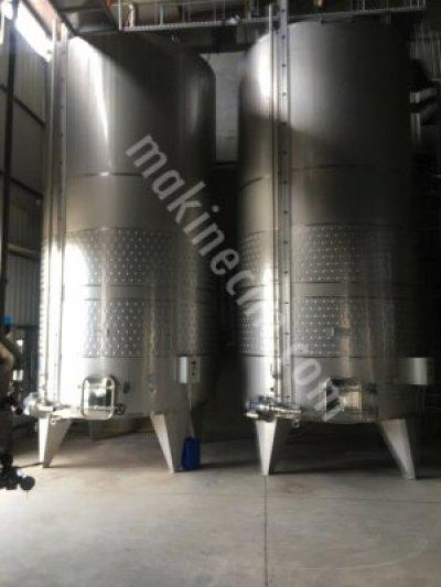 Satılık Sıfır Fermantasyon tankları Fiyatları Denizli şarap stok tankı,fermantasyon tankı