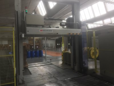 Pallet Strapping Machine With Press