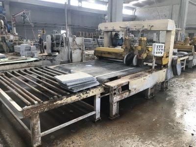 Satılık İkinci El İtalyan Ebatlama Trimix Hattı Komple Fiyatları İzmir mermer makinası, granit ebatlama, kafa kesme,trimix,çoklu ebatlama