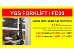 3 Ton Japon Mıtsubıshı Motor Ygs Forklift %1 Kdv 36 Ay Vade