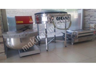 Satılık 2. El Sıfır Ayarında 6ay Kullanılmış Temiz Makinalar Fiyatları Konya Yufka yedek makinesi, yufka pişirme ocağı, hamur yugurma makinesi, kadayıf pişirme ocağı