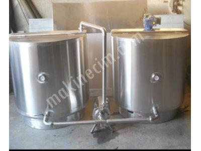 500 Lt/h Ocaklı Süt Pişirme Kazanı