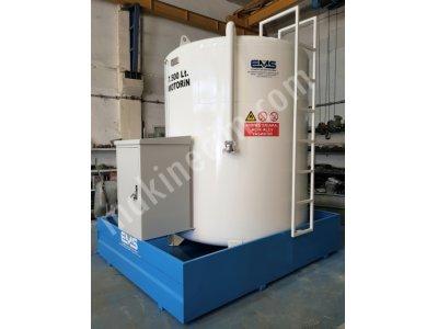 7500 Lt Yerüstü Havuz Sistemli Yakıt Tankı + Pompa + Kabin