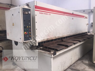 For Sale Second Hand BAYKAL BRAND 4MT X 13MM NC CONTROLLED ABKANT PRESS & GUILLOTINE SCISSOR
