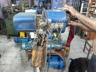Satılık İkinci El Zincirli vinç 1 tonluk vinç Fiyatları İstanbul Zincirli vinc