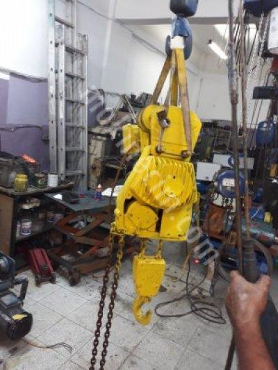 Satılık İkinci El Zincirli vinc 1.5 tonluk çift devirli Fiyatları İstanbul Zincirli vinc