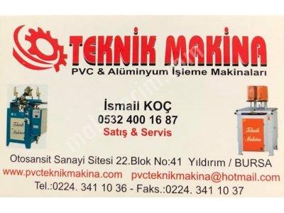 2.el Pvc Ve Alüminyum Doğrama Makinaları Nakit Alınır Teknik Makina