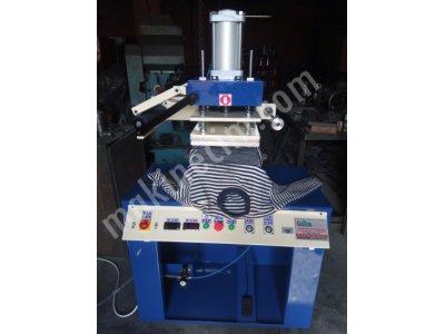 Gofre Baskı Makinesi Yaldız Baskı Klişe Baskı Makinası