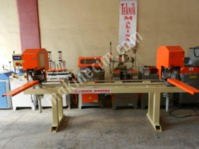 02 Mm Kopartmalı Çift Köşe Kaynak Makinası Pvc Makinaları