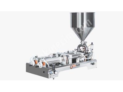 Çiftli Yoğun Sıvı Dolum Makinası 1 Lt  (Yerli Üretim)