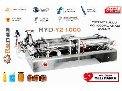 Renas Ryd-Y2 1000 Çift Nozullu Yoğun Sıvı Dolum Makinası 100-1000 Ml