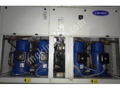 Satılık 2. El 208 Kw= 180.000 Kcal/h Ortalama 350 Saat Kullanılmış Carrier Chiller Soğutma Grubu
