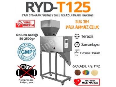 Ryd-Vt 125 Vibrasyonlu Terazili Dolum Makinası