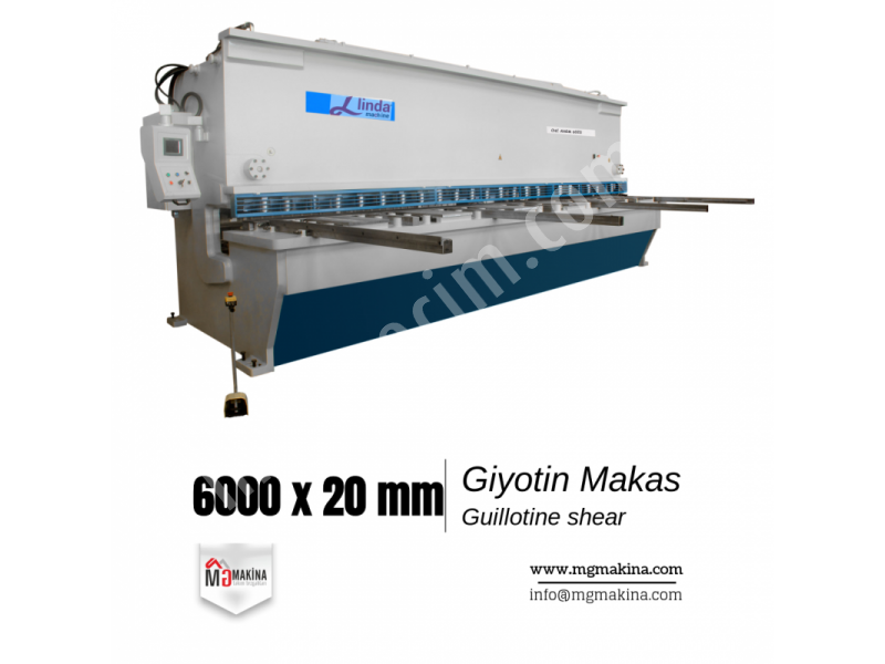 Giyotin Makas 6000 x 20mm - Guillotine Shear