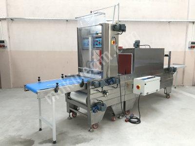 Tam Otomatik Paslanmaz Önden Konveyör Beslemeli 60X45 Tünelli Polietilen Shrink Ambalaj Makinesi