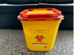7 Size Medical Waste Bin And Nurse Tray
