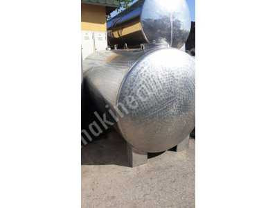 2. El Süt Taşıma Tankı 6 Tonluk 3 Mm Kalınlık Süt Nakil Kazanı Glikoz Depolama Tankı