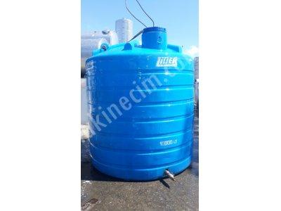 2. El Pilastik 10 Tonluk Su Deposu Poletilen Depo Temiz Su Tankı