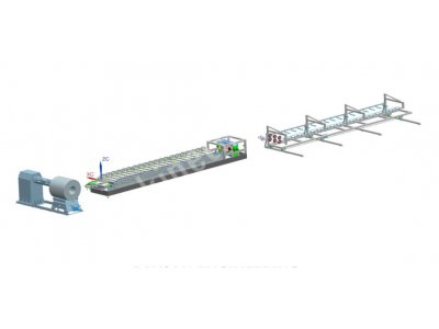 TRAPEZOIDAL SHEET METAL ROLL FORMING PRODUCTION LINE