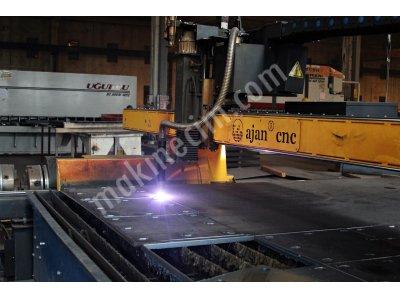 Ajan 2013 Model 12 Metre 260 Amper Boru Kesmeli Plazma Makinesi